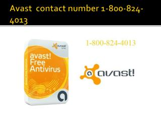 Avast contact number 1-800-824-4013 USA,US