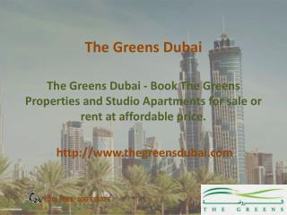the Greens Dubai - Properties For Rent