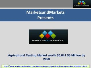 Agricultural Testing Market by Sample & Application