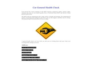 Car General Health Check