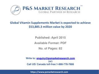 Global Vitamin Supplements Market is expected to achieve $53