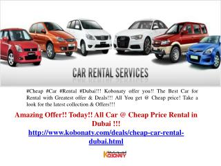 Cheap Car Rental Dubai