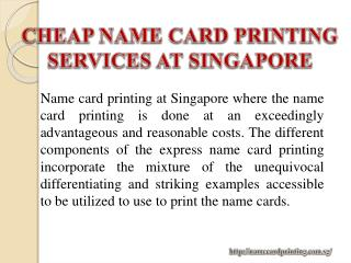 Cheap Name Card Printing Services