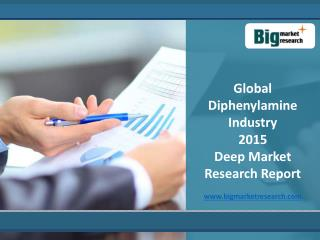 Global Diphenylamine Market 2015 Industry trends, analysis