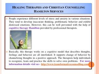 Healing Therapies and Christian Counselling Hamilton Service