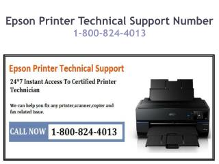 Epson Printer Technical Support Number {1-800-824-4013}
