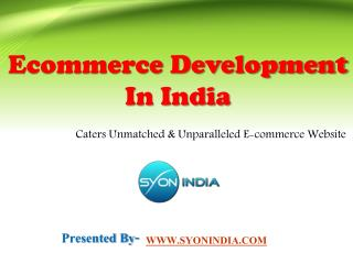 Ecommerce Development In India Caters Unmatched Website