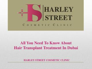 All You Need To Know About Hair Transplant Treatment In Duba