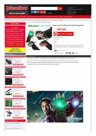 Gants Laser Vert 30mw Pour DJ ou show
