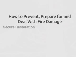 Secure Restoration Blog