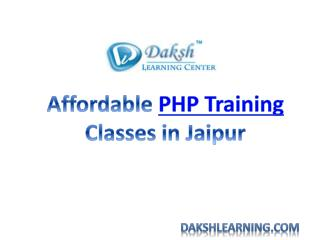 Affordable PHP Traning Classes