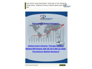 Global Home Infusion Therapy Devices Market to 2020