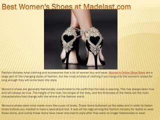 Best Women's Shoes at Madelast.com