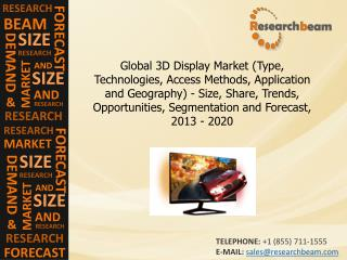 Global 3D Display Market Size, Share, Trends, 2013-2020