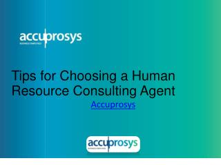 Tips for Choosing HR Consulting Agent