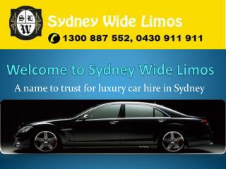 Luxury Chauffeur Car Hire in Sydney - Sydney Wide Limos