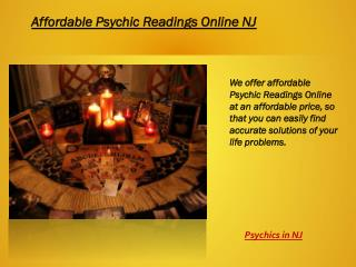 Affordable psychic readings in NJ