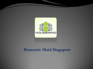 Domestic Maids Singapore