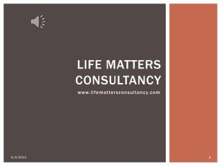 Life Matters Consultancy