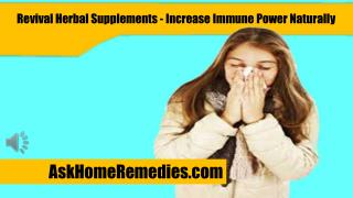 Revival Herbal Supplements - Increase Immune Power Naturally