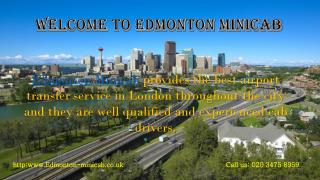 Minicab Taxi Service From Edmonton