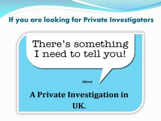 Private Investigators & their Services - Q Investigation Ser