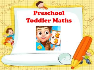Preschool Toddler Maths - Educational Games for Kids