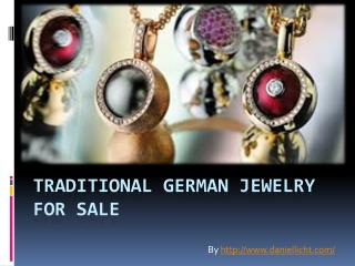 Traditional German Jewelry for sale