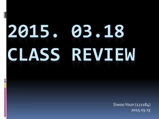 Class review presentation