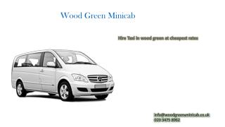 Wood Green Minicab & Taxi Booking