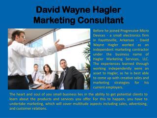 David Wayne Hagler Marketing Consultant