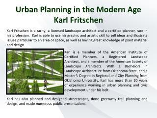 Urban Planning in the Modern Age Karl Fritschen