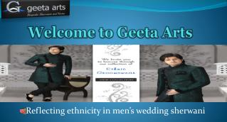 Latest Mens Wedding Sherwani Collection - Geeta Arts