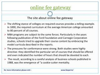 The best guide for online fee gateway