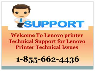 GET TECH HELP- #1-855-662-4436 Lenovo Printer Tech Problems