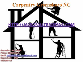 Drywall and Window Installation, Deck Building and Carpentry