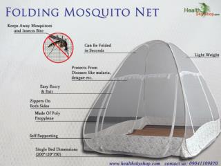 Foldable Mosquito Net Is Healtheir Way To Keep Away Nasty Bu