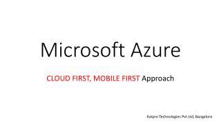 Azure circle Partner in India
