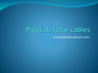 Polycab Solar Cables