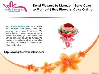 Send Flowers to Mumbai- Cake Delivery in Mumbai