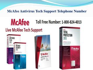 McAfee Antivirus Tech Support Telephone Number
