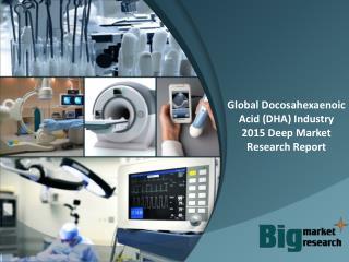 Global Docosahexaenoic Acid (DHA) Industry 2015 Deep Market