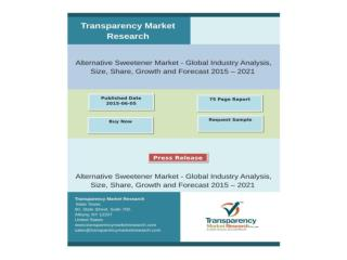 Alternative Sweetener Market - Global Industry Analysis, Siz