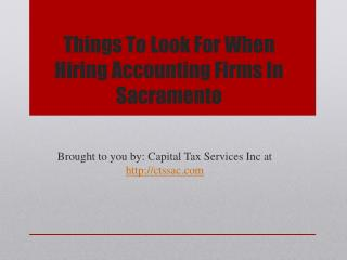 Things To Look For When Hiring Accounting Firms
