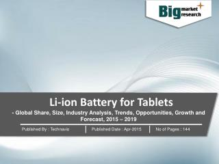 Li-ion Battery for Tablets 2015-2019