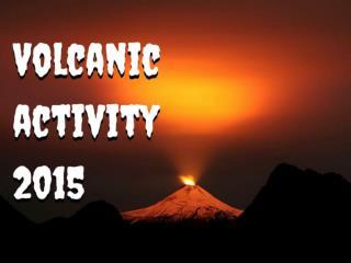 Volcanic activity 2015