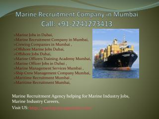 About Ship Crew Management Company Mumbai, maritime recruitment Mumbai