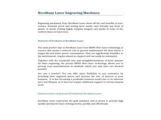Needham Laser Engraving Machines