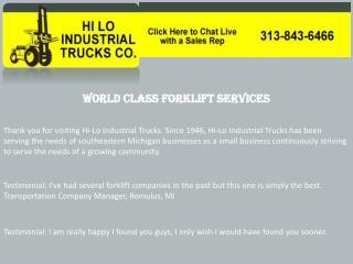 Forklift repairs near me