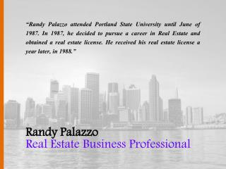 Randy Palazzo - Real Estate Business Professional